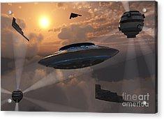 Artists Concept Of Alien Stealth Acrylic Print by Mark Stevenson