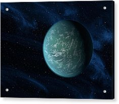 Artists Concept Of Kepler 22b, An Acrylic Print