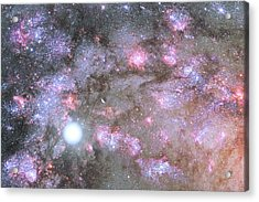 Acrylic Print featuring the digital art Artist's View Of A Dense Galaxy Core Forming by Nasa