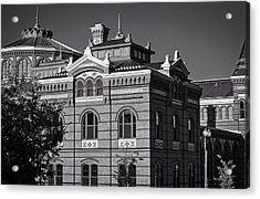 Arts And Industries Building In Black And White Acrylic Print