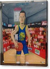 Artwork Of Stephen Curry Acrylic Print