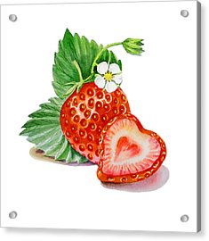 Artz Vitamins A Strawberry Heart Acrylic Print