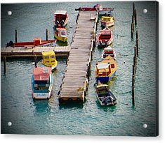 Colorful Fishing Boats Acrylic Print by Jean Marie Maggi