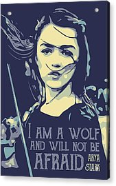 Arya Stark Game Of Thrones Acrylic Print