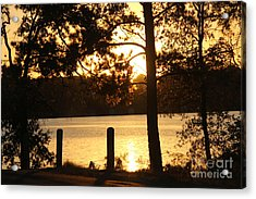 As Another Day Closes Acrylic Print by Kathy  White
