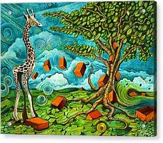 As High As Giraffe Bus Acrylic Print