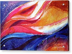Acrylic Print featuring the painting As I Bloom by Kathy Braud
