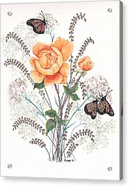 As I Ride The Butterfly Acrylic Print by Stanza Widen