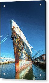 As She Rusts Away Acrylic Print by Marvin Spates