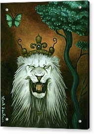 As The Lion Laughs Acrylic Print by Leah Saulnier The Painting Maniac