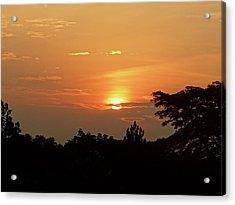As The Sun Sets ... Orange Acrylic Print by Exploramum Exploramum