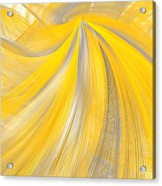 As The Sun Shines - Yellow And Gray Art Acrylic Print by Lourry Legarde