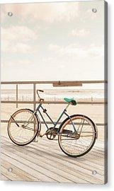 Asbury Park Bicycle Acrylic Print by Erin Cadigan