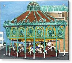 Asbury Park Carousel House IIi Acrylic Print