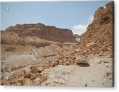 Ascension To Masada - Judean Desert, Israel Acrylic Print by Yoel Koskas