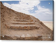 Acrylic Print featuring the photograph Stairway To Heaven - Masada, Judean Desert, Israel by Yoel Koskas