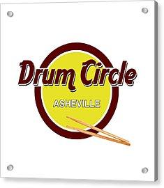 Asheville Drum Circle Logo Acrylic Print