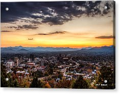 Asheville From Above Acrylic Print