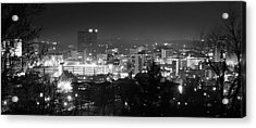 Asheville North Carolina Skyline Acrylic Print