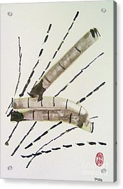 Acrylic Print featuring the painting Ashi Ya Take-hen by Roberto Prusso