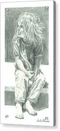 Ashlee Acrylic Print by Leslie Rhoades