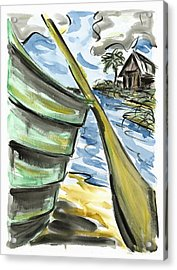 Acrylic Print featuring the painting Ashore by Robert Joyner