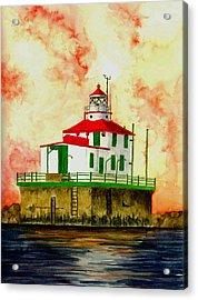 Ashtabula Lighthouse Acrylic Print by Michael Vigliotti