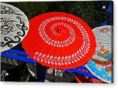 Asian Parasols Acrylic Print