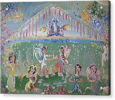 Acrylic Print featuring the painting Asian Party Fairies by Judith Desrosiers