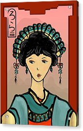 Asian Princess Acrylic Print