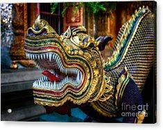 Asian Temple Dragon Acrylic Print by Adrian Evans