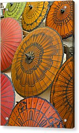 Asian Umbrellas Acrylic Print