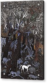 Asil In Shitaki Forest Acrylic Print by Al Goldfarb