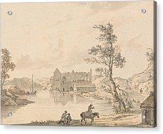 Askeaton Abbey Near Limerick, Ireland On The River Deel Acrylic Print by Paul Sandby