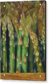 Asparagus From The Farmers Market. Acrylic Print by Jan  Spangler
