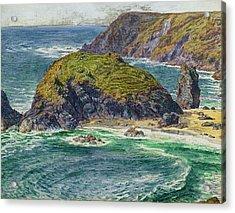 Asparagus Island Acrylic Print by William Holman Hunt