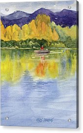 Acrylic Print featuring the painting Aspen Afternoon by Kris Parins