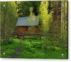 Acrylic Print featuring the photograph Aspen Cabin by Leland D Howard