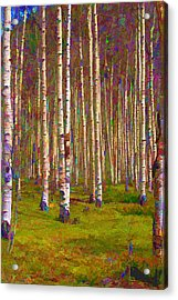 Acrylic Print featuring the digital art Aspen Dawn II by Brian Davis