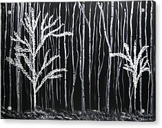 Acrylic Print featuring the painting Aspen Forest by Dolores  Deal