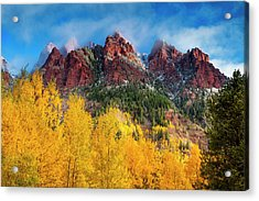 Acrylic Print featuring the photograph Aspen Morning by Andrew Soundarajan