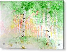 Aspens Acrylic Print by Andrew Gillette