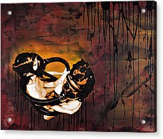 Asphyxiation By Oil Dependency Acrylic Print by Tai Taeoalii