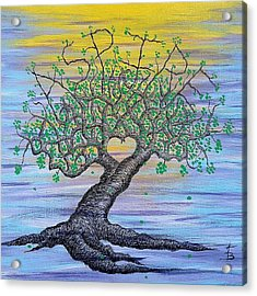 Acrylic Print featuring the drawing Aspire Love Tree by Aaron Bombalicki