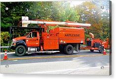 Asplundh Tree Expert Company Trucks Acrylic Print