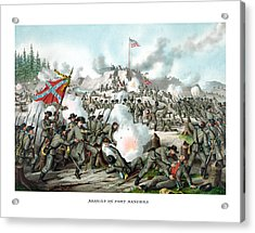 Assault On Fort Sanders Acrylic Print by War Is Hell Store