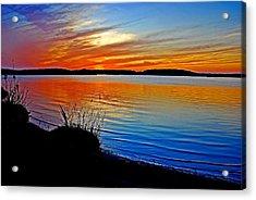 Assawoman Bay At Sunset Acrylic Print