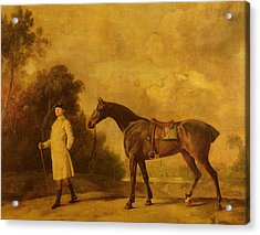 Assheton, First Viscount Curzon, And His Mare Maria Acrylic Print by George Stubbs