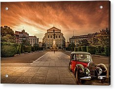 Assignation Acrylic Print by Marty Garland