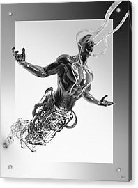 Acrylic Print featuring the digital art Assimilation by Uwe Jarling